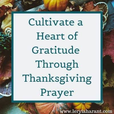 Thanksgiving Prayer for Our Families