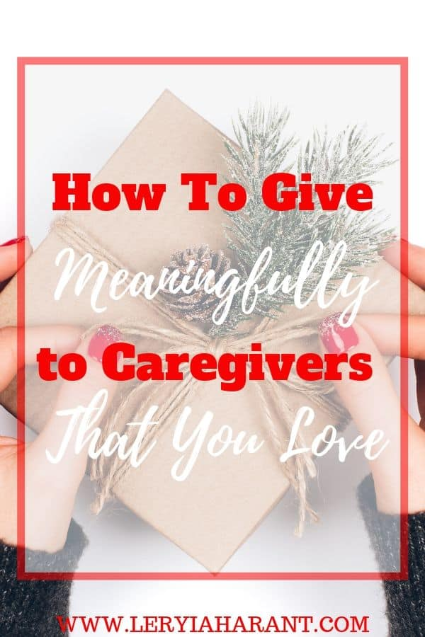 christmas gift for caregiver in woman's hands