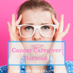 young female brain cancer caregiver burn out