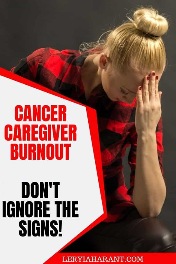 female cancer caregiver stressed out and burned out
