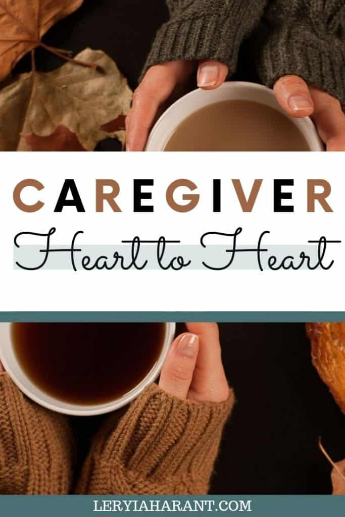 caregiver heart to heart conversation over coffee