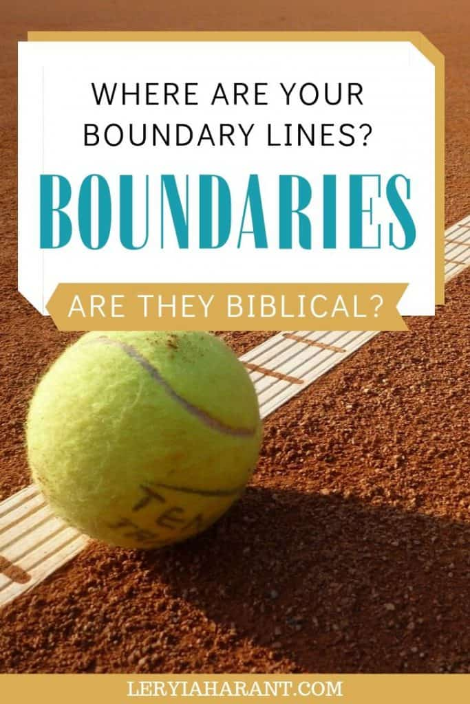 Healthy boundaries illustrated by a tennis ball on the line