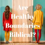 healthy boundaries is a door between two women
