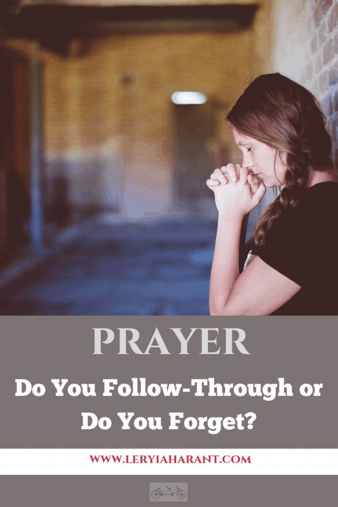 girl praying for prayer follow through