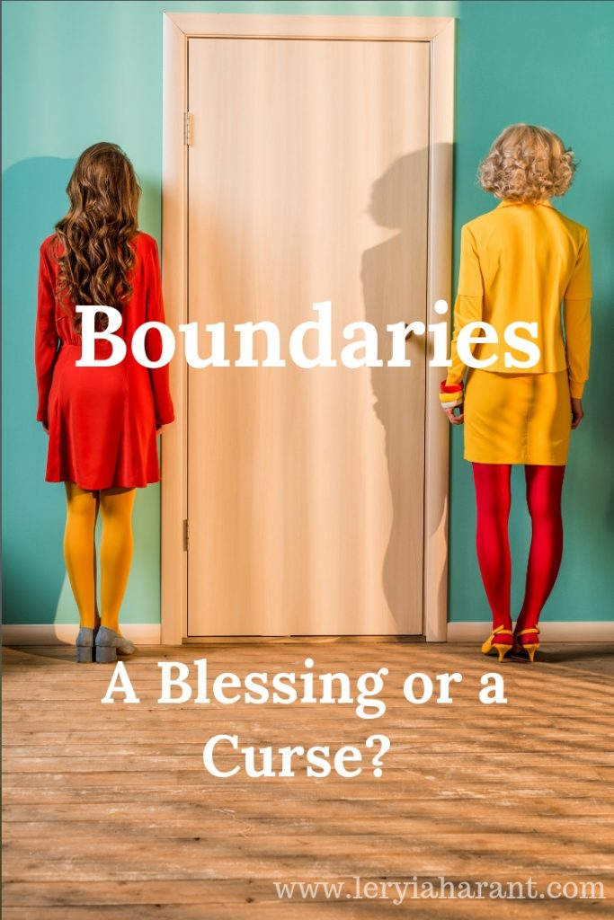 healthy boundaries is a door between two women