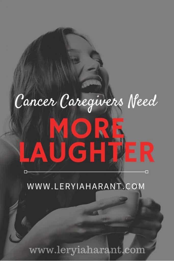 female caregiver laughing