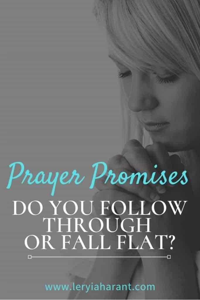 Girl praying for prayer follow through