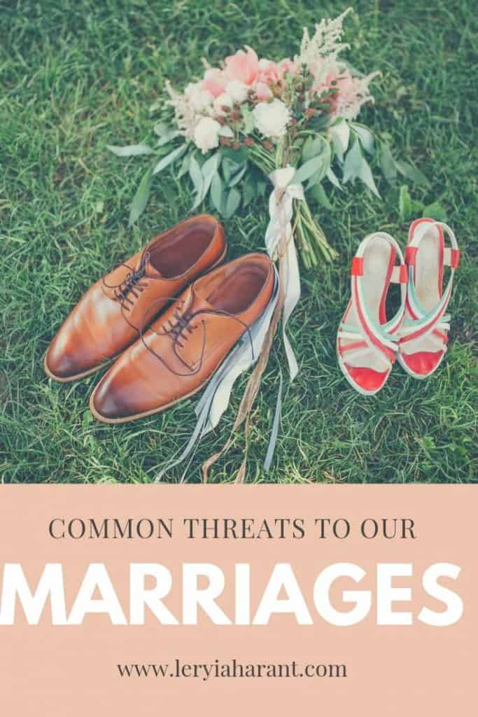 shoes of a married couple with bridal bouquet