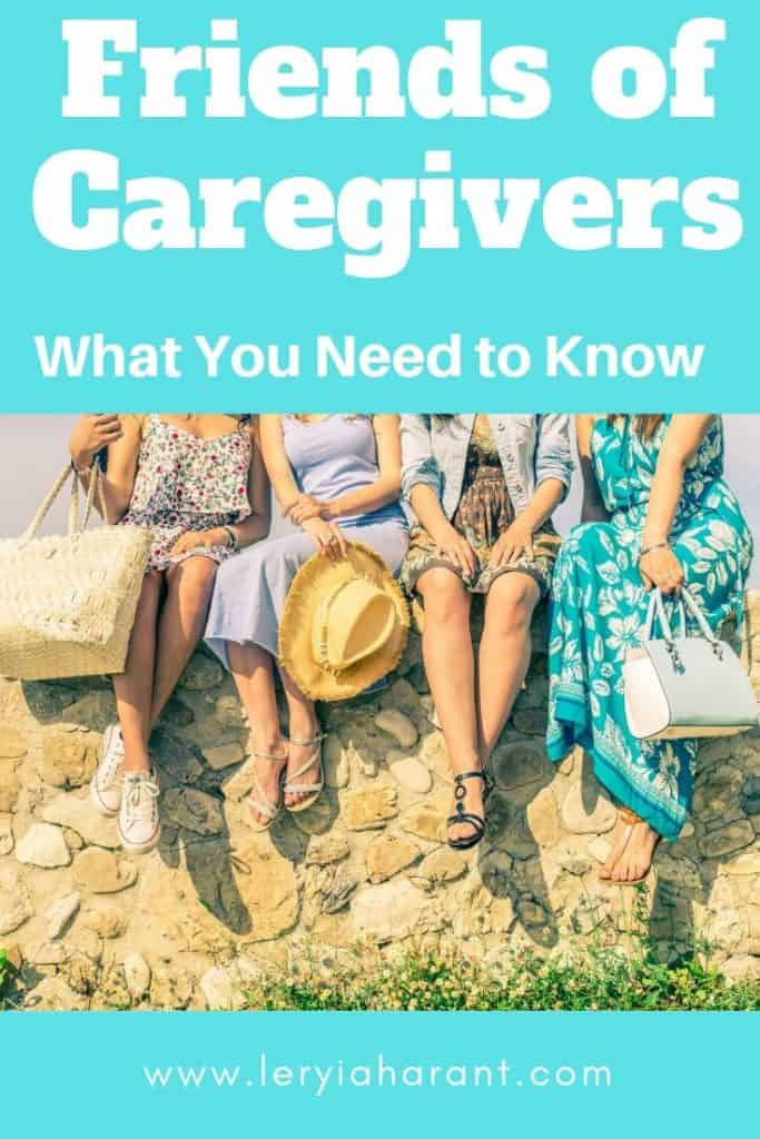 friends of caregivers sitting on a wall