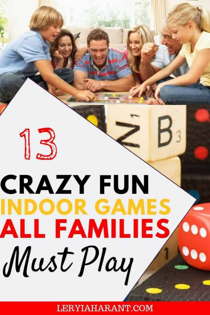 family playing fun games to play inside
