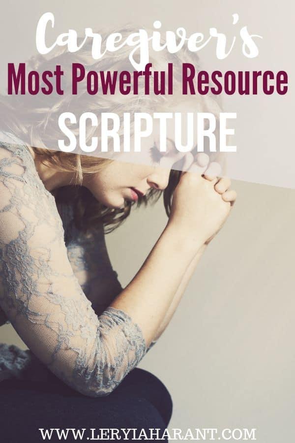 caregiver praying