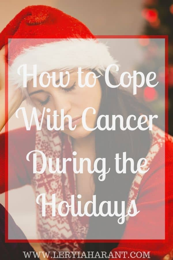 Sad young girl surviving the holidays with cancer