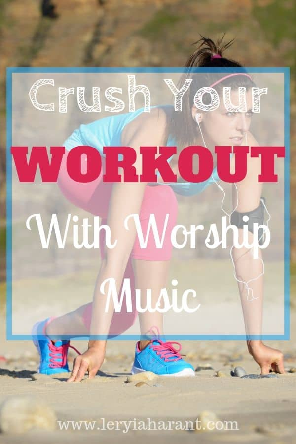 girl listening to worship music during her running workout