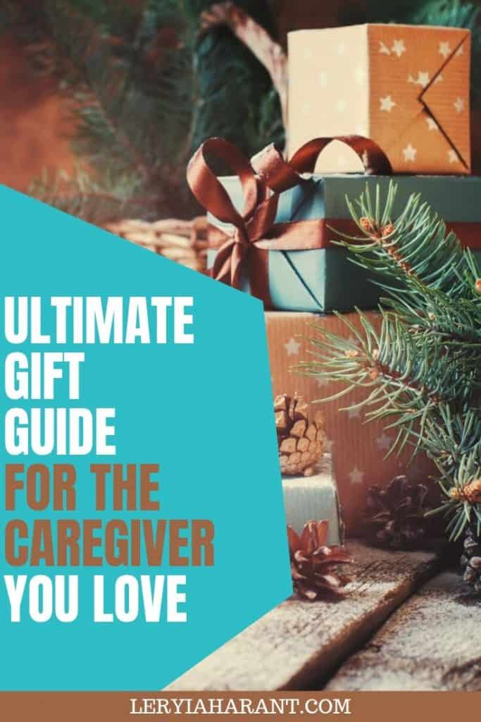 stack of Christmas gifts for caregivers