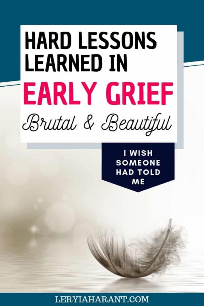 gray feather symbolizing grief and loss