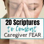 fearful female caregiver grimacing