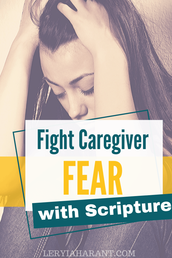 fearful female caregiver crouched down on floor