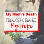 grieving girl missing her mom at graveside