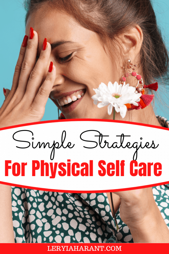 young woman laughing for self care strategy