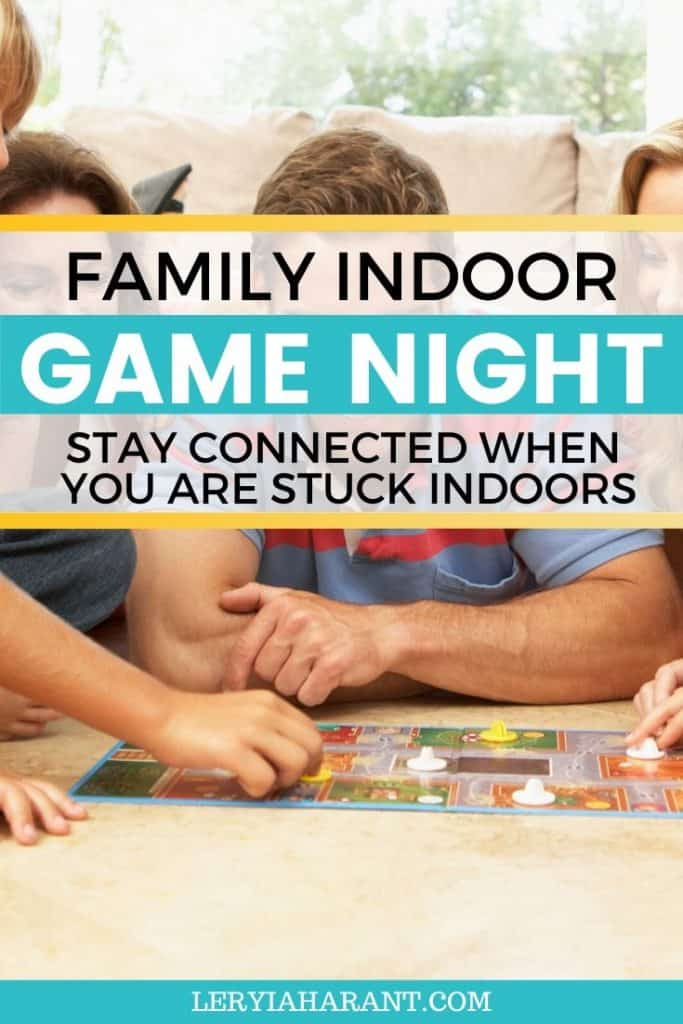 family playing fun indoor board games