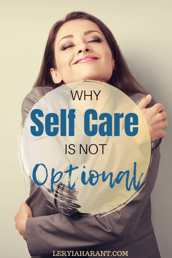 woman hugging herself as a self care strategy