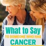 a mother and daughter talking about cancer
