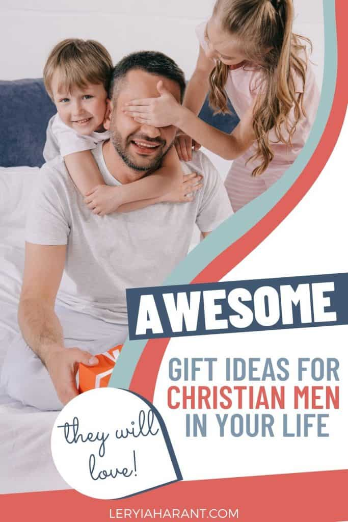Christian dad with his son and daughter