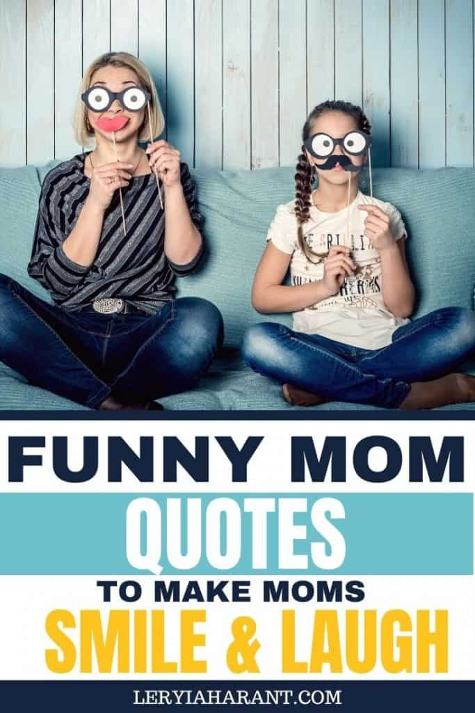 Mom and daughter with funny facial disguises mom humor