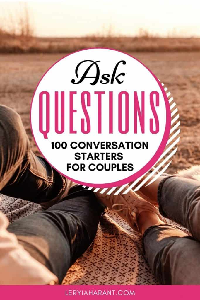 married couple on outdoor date night asking questions