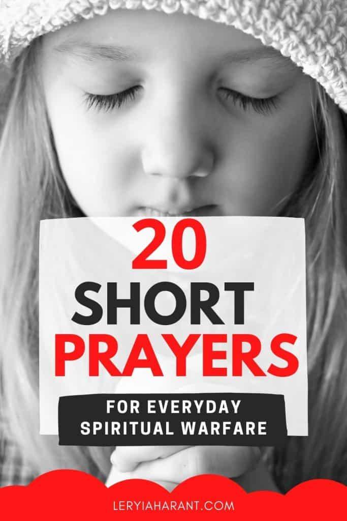 young girl praying short prayers