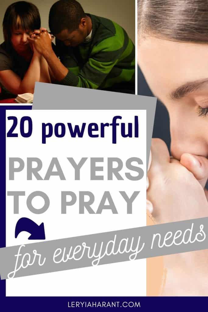 couple and young girl praying short prayers