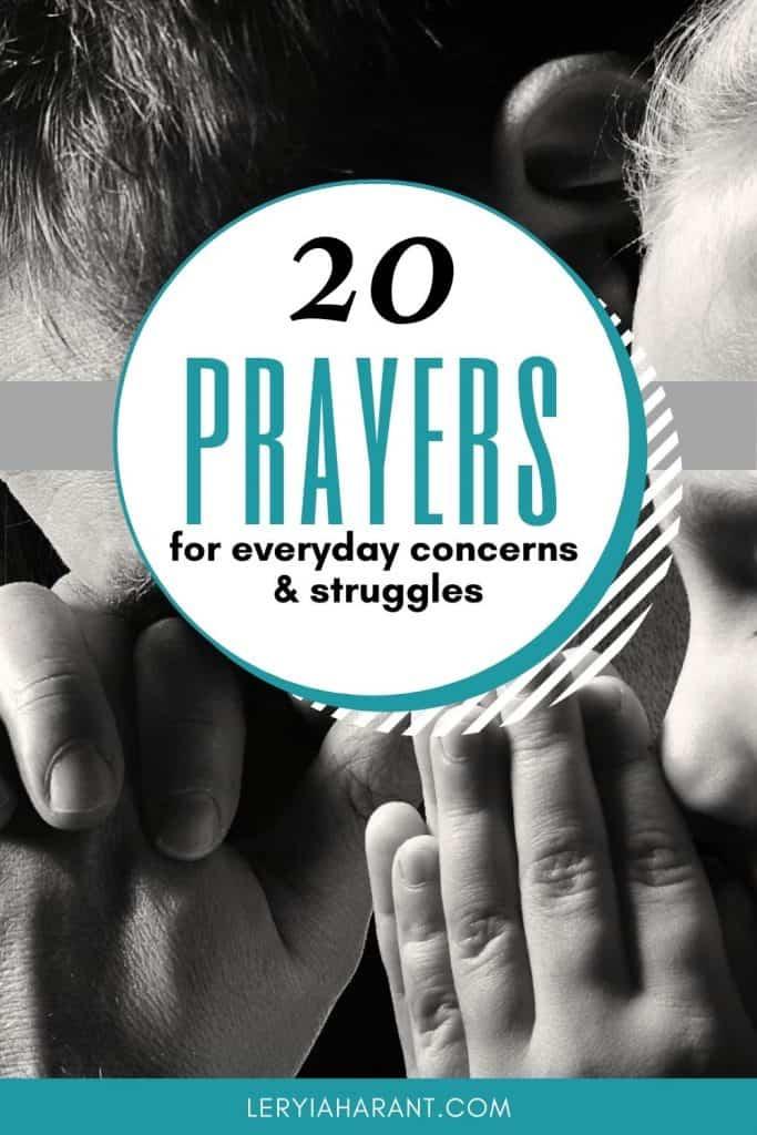 dad and daughter praying short prayers