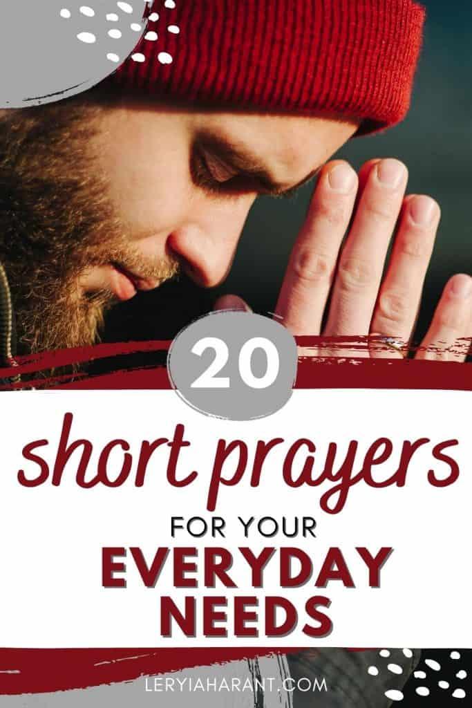 young man praying short prayers